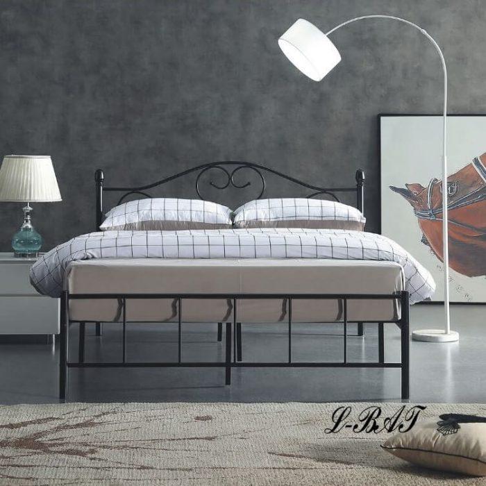 工業風雙人造型鐵製床架