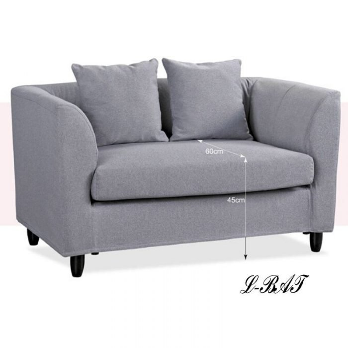 柯提雙人布沙發