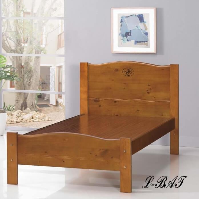 瑪格莉實木造型床架