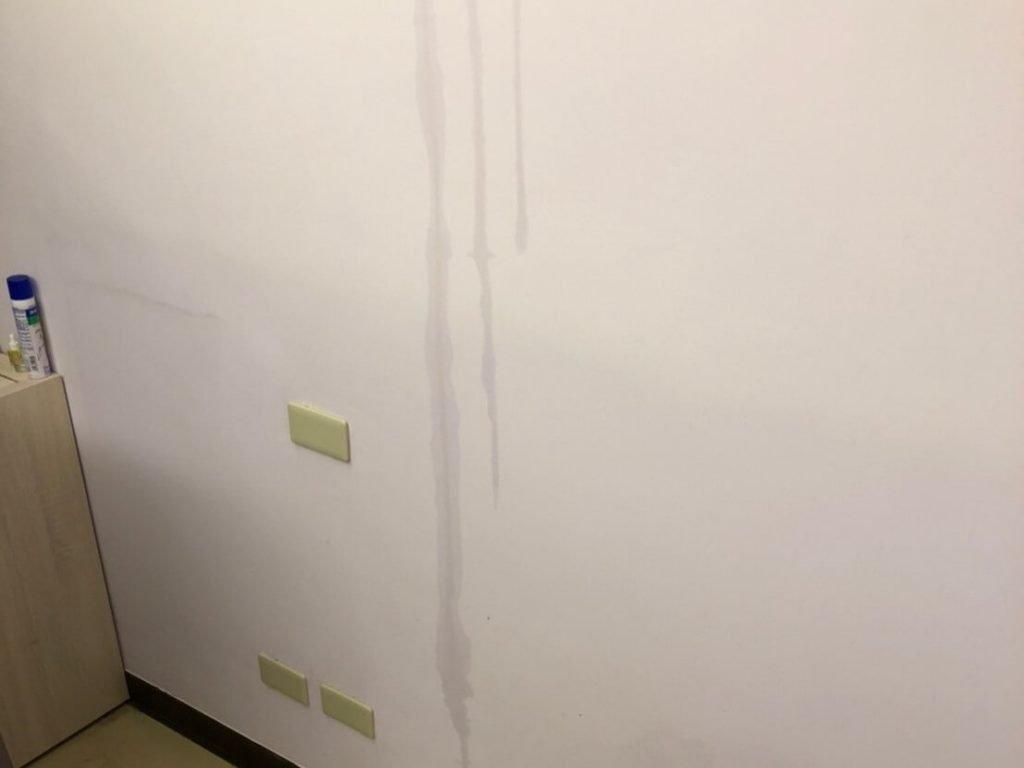 天花板漏水示意圖