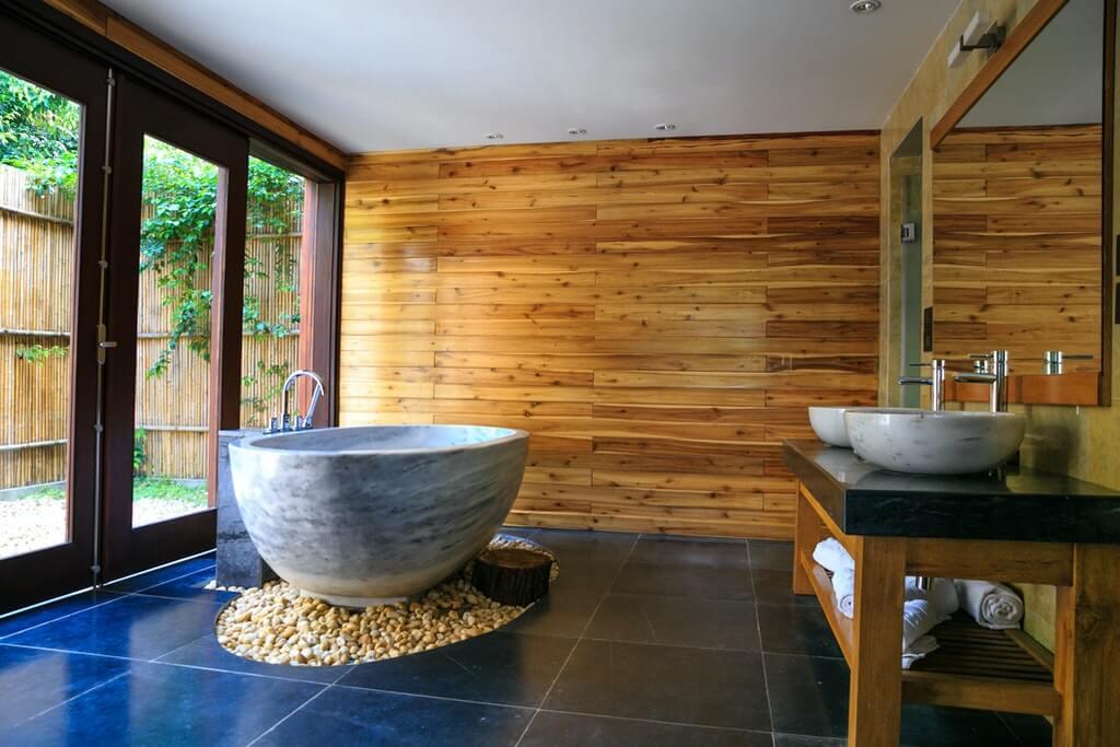獨立浴缸示意圖