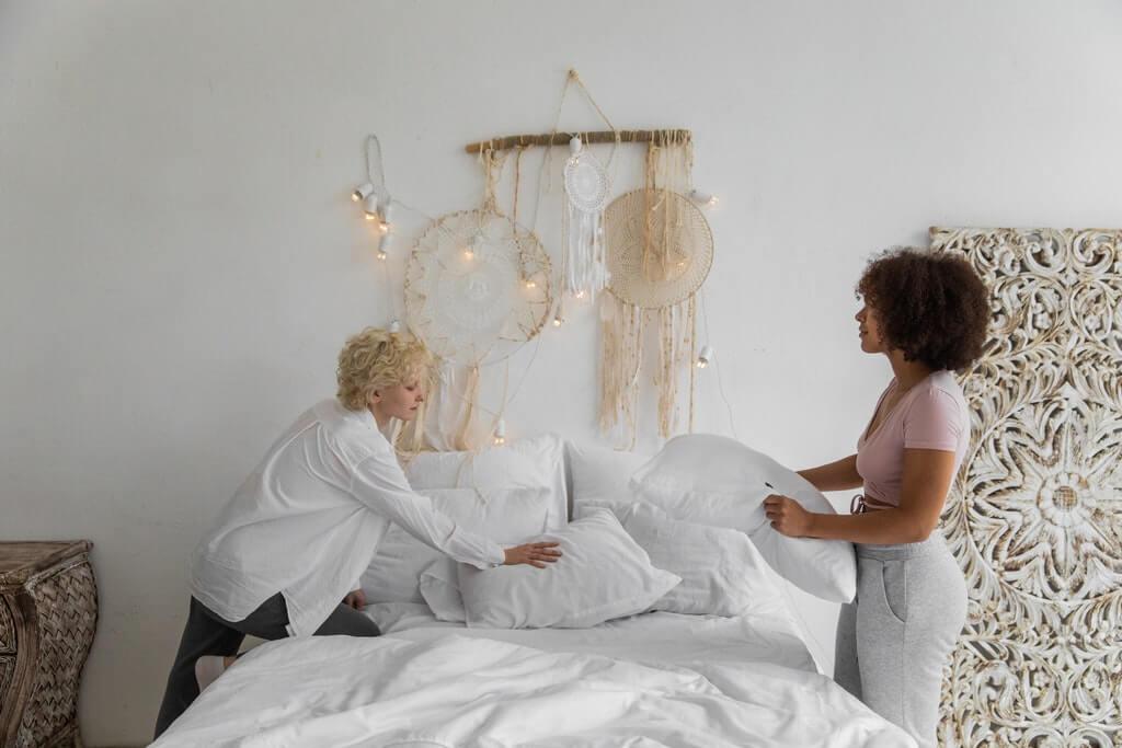 床墊清潔示意圖