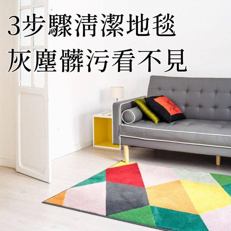 【傢俱小知識】3步簡單地毯清潔步驟!灰塵髒污看不見