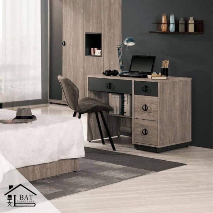 奧茲木質雙色質感書桌